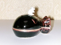 天目釉 袋鼠香合 清宝  1575円