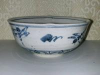 安南 蜻蛉菓子鉢 藍窯  4200円