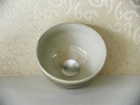 H22勅題茶碗 粉引き 光  5000円