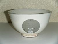 粉引き 干支茶碗 うさぎ
