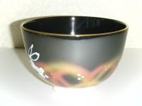 黒仁清 月に兎茶碗 4200円