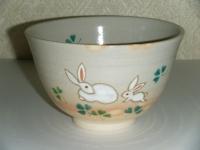 兎にクローバー茶碗 4200円
