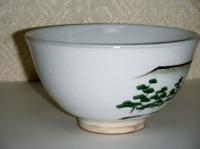 H24 勅題茶碗 粉引き唐津 岸