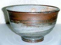 H24 干支茶碗 三島彫り唐津