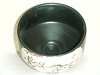 鉄釉 午抹茶碗 忠作  1806円