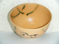 弥七田織部 牛抹茶碗 隆山作  3003円
