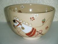 春駒抹茶碗 東山作  4620円