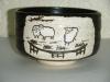 鉄釉 羊干支抹茶碗 忠作 1,900円(税込価格¥2,052)