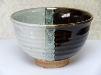 抹茶碗 朝鮮唐津(片身掛け分け)   5500円(税込価格¥5940)