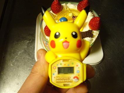 ポケモンケーキの付属品:ピカチュウの時計