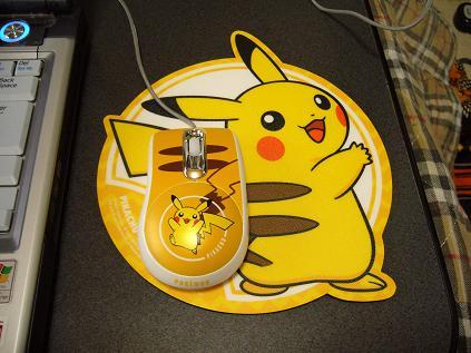 ピカチュウマウス&マウスパッド