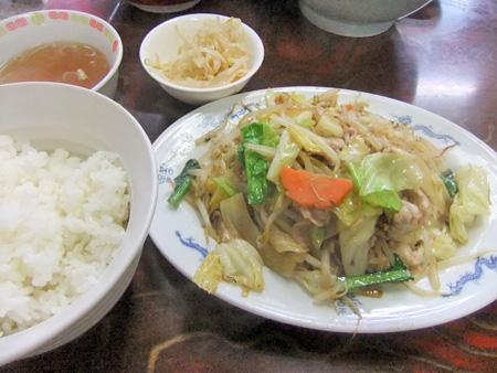 肉野菜炒め@酔来軒