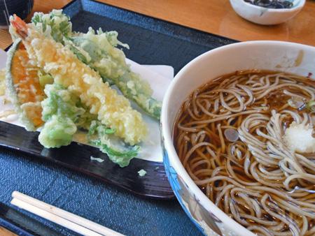 軽井沢 蕎麦 みのりの天ぷらそば