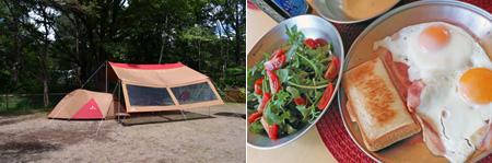 軽井沢キャンプ 朝食