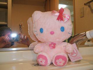洗面所ピンクリボンキティ