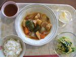 21昼酢豚・春雨和え物・林檎
