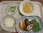 22夜牛の野菜巻き・じゃがソテー・蟹かまサラダ