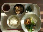24昼鶏照り焼・ポン酢和・餅入り根菜汁