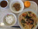 26昼和風スパゲチ・金平・蜜柑
