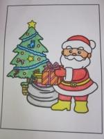 クリスマス塗り絵1
