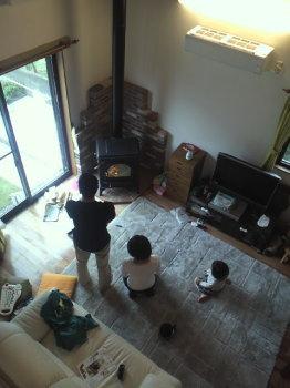 マキストーブの火入れ式 福岡県粕屋町の木造注文住宅