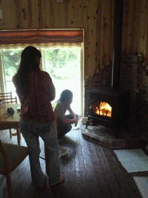 マキストーブの火入れ式 佐賀県唐津市七山の木造注文住宅