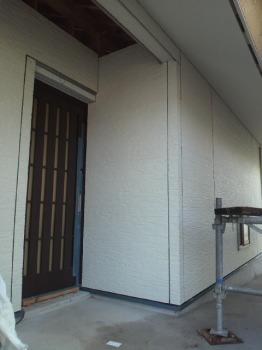 大分県宇佐市の木造りの家 サイディング張りも もうすぐ完了
