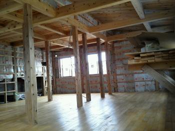 2階床の施工|福島県相馬の木造りの家