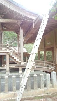 雨樋の取り替え|浦地区の老松神社