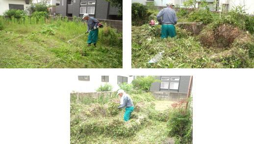 建築前草刈|福岡県太宰府市の木造りの家