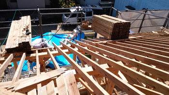 屋根下地材|福岡県太宰府市の木の家
