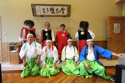 第11回上津江産業文化祭-豆生野神楽保存会記念写真-