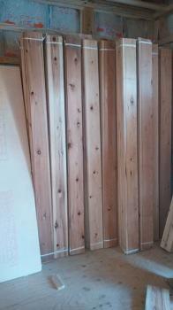 杉化粧板(節有)|大容量収納と回遊性のある 間取りで快適な住まい-福岡市城南区-