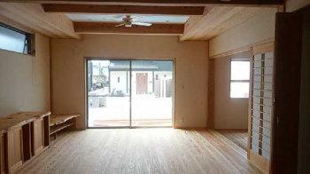 完成に向けて|家事らく動線とサンルームのある住まい-大分県日田市-