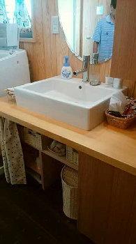 手作り洗面台!|手造りと木のぬくもりに包まれた暮らしを楽しむ住まい-大分県由布市-