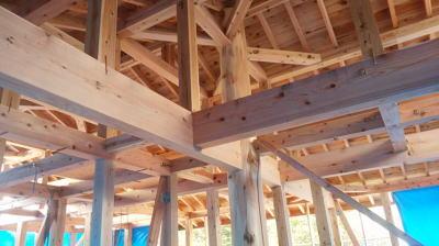 祝!上棟式!|大分県日出町の木造りの家