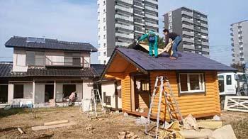 仮設住宅を建てる!|熊本市東区の木造りの家