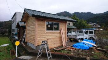 現場の様子|福岡朝倉市の店舗増築工事