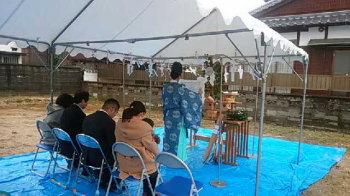 地鎮祭|3世代にも対応 将来を見据えた平屋建ての住まい-福岡県久留米市-