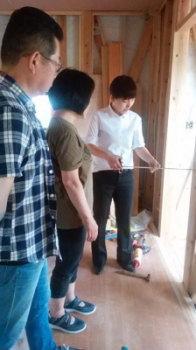 手作り家具打合せ 3世代で暮らしを楽しむ家族団らんの家 -大分県日田市-
