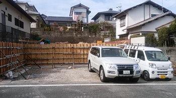 祝日!地鎮祭!|玄関・浴室を共有 限られた敷地に実現した二世帯住宅-福岡県太宰府市-