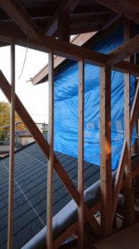 建て方完了|玄関・浴室を共有 限られた敷地に実現した二世帯住宅-福岡県太宰府市-