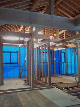 木工事|玄関・浴室を共有 限られた敷地に実現した二世帯住宅-福岡県太宰府市-