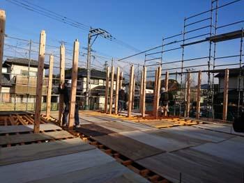 建て方!|セルロースファイバーを採用!吹抜けのある長期優良住宅-福岡県筑紫野市-