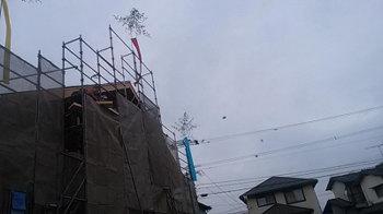 祝 !棟上げ式!|セルロースファイバーを採用!吹抜けのある長期優良住宅-福岡県筑紫野市-