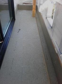 ベランダの防水|玄関・浴室を共有 限られた敷地に実現した二世帯住宅-福岡県太宰府市-