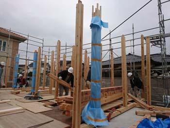 建て方!|最高ランク耐震等級3!安心で広々大空間の住まい-福岡県久留米市-
