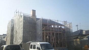 屋根仕舞い完了|最高ランク耐震等級3!安心で広々大空間の住まい-福岡県久留米市-