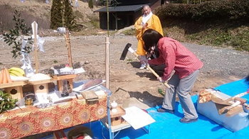 地鎮祭|〜ふるさとへ帰る〜大自然と共に暮らす 薪ストーブのある住まい-大分県日田市-