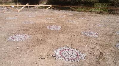 地盤補強|〜ふるさとへ帰る〜大自然と共に暮らす 薪ストーブのある住まい-大分県日田市-